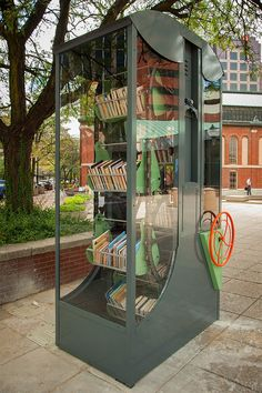 The Indianapolis Public Library recently partnered artist Rachel M. Simon to launch the Public Collection, a program aimed at introducing nine artist-designed Mini Library, Little Library, Free Library, Library Books, Indianapolis Indiana, Mobile Library, Beautiful Library, Little Free Libraries, Reading Nooks