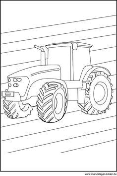 Ausmalbilder Traktor New Holland  Ausmalbilder Jungs GS