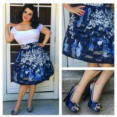 See this Instagram photo by @heartofhaute • of Yasmina Greco @crazy4me Curvy Outfits, Pin Up Style, Pin Up Girls, Pinup, Instagram Posts, Skirts, Clothes, Vintage, Color
