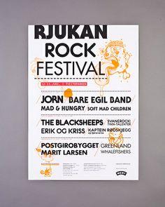 Rjukan Rock Festival - Poster Rock Festivals, Festival Posters, Norway