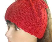 Hat for Ponytail & Cowl wear it either way, great idea, now my creative juices are flowing & I have to design a pattern or find one!