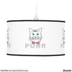 Cat Purr Hanging Lamp