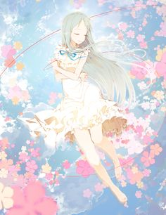 Ano Hi Mita Hana no Namae o Bokutachi wa Mada Shiranai. (We Still Don't Know The Name Of The Flower We Saw That Day) - Zerochan Anime Image Board Sad Anime, Me Me Me Anime, Anime Art, Menma Anohana, Vocaloid, Persona Anime, Hokusai, Fanart, Chica Anime Manga