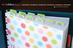 Organize your holidays with a Holiday Planner! ABFOL