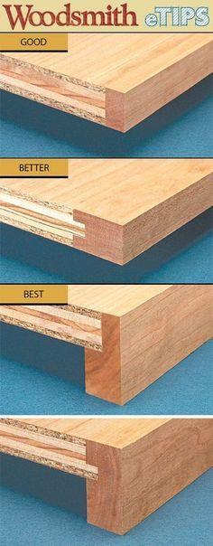 """""""Build Super Strong Shelves"""" (from plywood but with concealed edges)."""