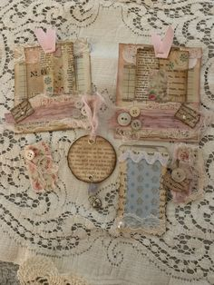 Vintage like/grungy shabby chic ephemera for junk journals 15 items plus 3 tags Includes tuck spots Envelopes coffee filter Guest check pockets And glassine coffee stained bag Fabric Journals, Journal Paper, Junk Journal, Shabby Chic Embellishments, Create Collage, Pink Pumpkins, Glue Book, Shabby Chic Christmas, Handmade Journals
