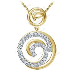 """""""Free Pouch"""" New Jewelry 925 Silver Cubic Zirconia Fancy Style Pendant 18"""" Chain #giftjewelry22 #FancyPendant"""