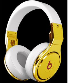 24 Karat Gold Plated Beats by Dre Pro Headphones