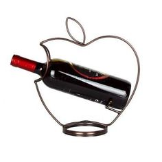 Apple Shape Single Bottle Tabletop Wine Holder Display Racks Shelf 3 Color