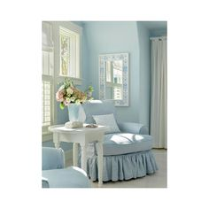 Create Soothing Rooms with the Color Blue ❤ liked on Polyvore featuring interior, room and backgrounds