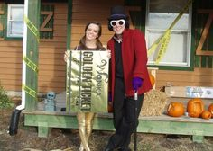I want to be a golden ticket! Great costume idea for the show!