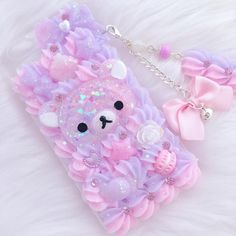 Image gallery for: finished custom case for the new xl decoden decocase Kawaii Phone Case, Decoden Phone Case, Girly Phone Cases, Diy Phone Case, Mode Kawaii, Kawaii Diy, Kawaii Room, Kawaii Crafts, Kawaii Stuff