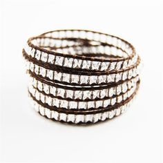Chan Luu wrap bracelet- clear quartz