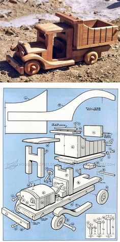 Wooden Toy Truck Plans - Children's Wooden Toy Plans and Projects   WoodArchivist.com
