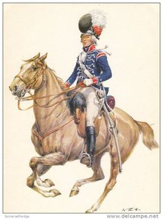SOLDIERS- Tritt: NAP- Britain: British 15th Light Dragoons, Officer, 1793, by Wolfgang Tritt.