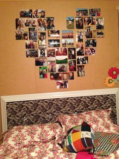 The heart picture collage that my teammates helped me make! 18 vertical pictures and 24 horizontal!