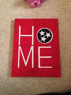 """""""Home"""" canvas  #diy #tennessee"""