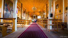 Interiors of the wooden church of st. Adalbert (Wojciech), Ranczo Wilkowyje, Jeruzal, Poland