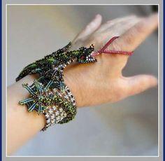 Green Dragon Bracelet Baby Dragon Fantasy by FrancescasFancy, $1275.00