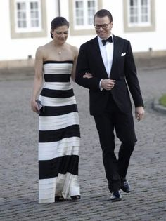 4/16/2010: Crown Princess Victoria & Daniel Westling arrive for the 70th birthday dinner of Queen Margrethe of Denmark at Fredensborg Palace (Fredensborg, Denmark)