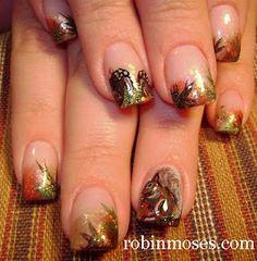"""Nail-art by Robin Moses: """"fall thanksgiving autumn nail art"""""""
