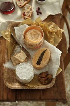 A Langres, Gres des Vosges and Camembert, all found in-store! What a yummy cheese board!