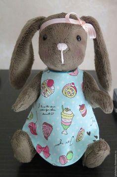 Teddy toy / Мишки Тедди ручной работы. Ярмарка Мастеров - ручная работа. Купить Тедди зайка. Handmade. Хаки, теддик, хлопок