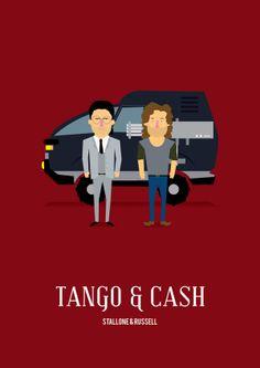 Tango & Cash (1989) - Minimal Movie Poster by Olaf Cuadras ~ #minimalmovieposter #alternativemovieposter #olafcuadras
