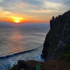 Sunset at Uluwatu Temple in Bali. Photo courtesy of monoubani on Instagram.