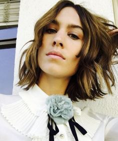 Alexa Chung rocks shorter locks.  See more celebrity bobs that will inspire you to get the chop: http://lifestyle.one/grazia/hair-beauty/hair/best-bob-hairstyles/