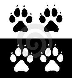 dog paw prints - received stencil! :)