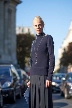 Aymeline Valade in Chloe   - HarpersBAZAAR.com