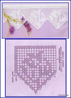 MIRIA CROCHÊS E PINTURAS: INSPIREM-SE COM ESTES BELOS BARRADOS Crochet Boarders, Crochet Lace Edging, Crochet Flower Patterns, Lace Patterns, Crochet Trim, Crochet Designs, Crochet Flowers, Crochet Stitches, Embroidery Stitches