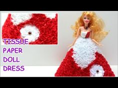 "Princess Doll Dress ""Red Fantasy"" from Tissue Paper - Doll Dress Fun"