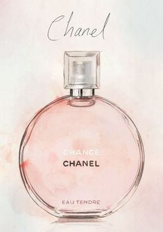 This is an original illustration by Michael Jefferson, created using watercolour and pencil and would be a wonderful gift for any Chanel Watercolor Fashion, Watercolor And Ink, Watercolor Illustration, Pink Perfume, Perfume Bottles, Parfum Chanel, Chance Chanel, Coco Chanel, Chanel Pink