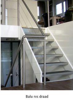 Rvs balustrade en trapleuning www.stdtechniek.nl Stairs, Design, Home Decor, Stairway, Decoration Home, Room Decor, Staircases, Home Interior Design