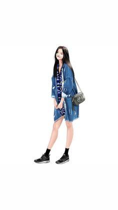 Fashion Illustration Sketches, Fashion Sketches, Covet Fashion, Girl Fashion, Character Design Teen, Cover Wattpad, Girly M, Kurta Designs Women, Fashion Design Drawings