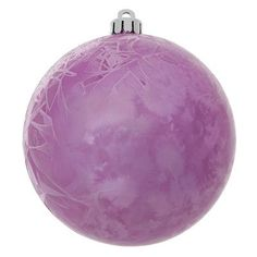 Vickerman Crackle Ball UV Drilled Christmas Ornament Color: Orchid