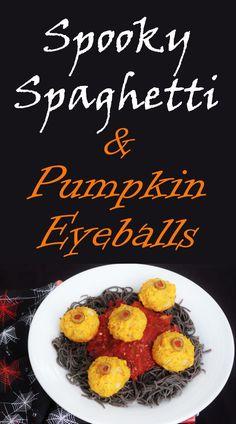 Spooky Spaghetti and Pumpkin Eyeballs  Euphoric Vegan