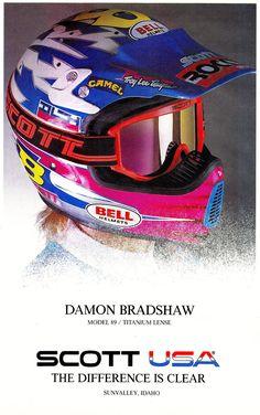 1990 SCOTT USA Moel 1989 Ad with Damon Bradshaw