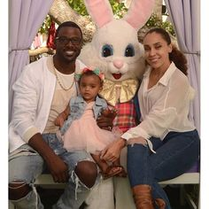 actor Lance Gross and his wife and daughter 2016