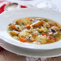 Chicken Vegetable Soup 20 g carbs per 1 1/2 cups (#diabetic friendly)