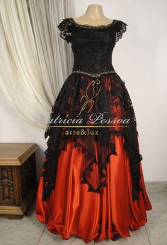 cigana-pomba-gira-bordado-renda-santo-vestimenta-vestido-saia-blusa-patricia-pessoa-atelier-blog-umbanda-candomble-preto-preta-vermelho-vermelha-tule-blusa.JPG (1086×1600)