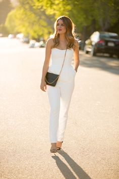 White Jumpsuit || Gal Meets Glam