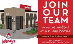 Wendy's at Nocatee is hiring!