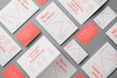 """Events & More Branding by Andrés Requena """"Visual identity and print materials for Maria Moreso inspired by the concept of more."""" Andrés Requena is a graphic designer based in Barcelona, Spain. He is focused on art direction, branding, graphic design..."""