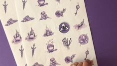 Print Tattoos, Illustration, Paper Mill, Moon Phases, Wrapping Papers, Astrology Signs, Postcards, Decals, Calendar