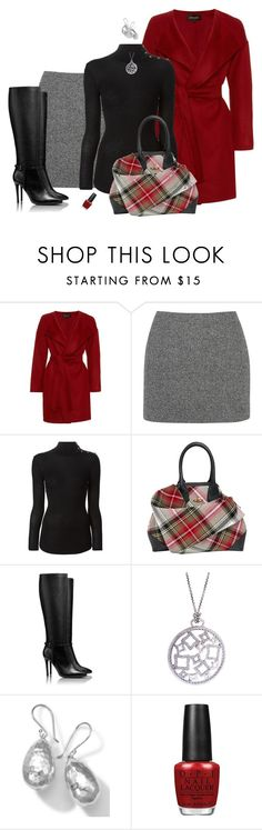 """""""Feeling a Chill Today?"""" by rleveryday ❤ liked on Polyvore featuring Jaeger, T By Alexander Wang, Balmain, Vivienne Westwood, Tory Burch, David Yurman, Ippolita, OPI, workoutfit and professionaloutfit"""