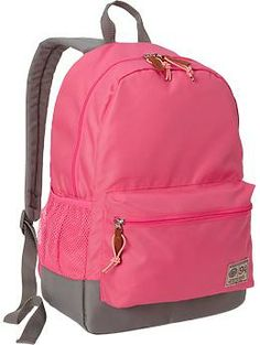 12d85b0ad5f9 Girls Color-Blocked Canvas Backpacks perfect for school Canvas Backpacks