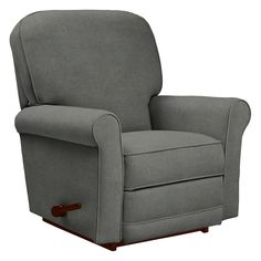 Have you ever seen such a gorgeous silhouette? Take a closer look at the welt trim on its arms, seat and back, and you'll find beauty lies in the details as well. There's also something quite appealing about the fact that it reclines and rocks, don't you think?